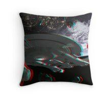Star Trek Enterprise NX-01 Starship 3d Anaglyph Throw Pillow