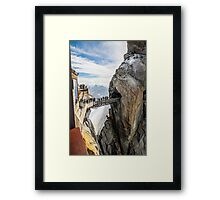 Passage between mountains Framed Print