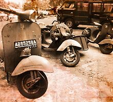 vintage vespas by paul mcgreal