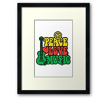 Reggae Peace-Love-Music Framed Print
