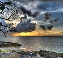 Sunset over Love Beach in Nassau, The Bahamas by 242Digital
