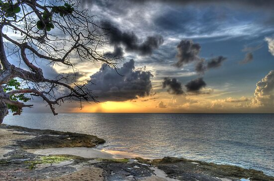 Sunset over Love Beach in Nassau, The Bahamas by 242Digital