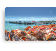 Marina at Montagu Beach in Nassau, The Bahamas Canvas Print