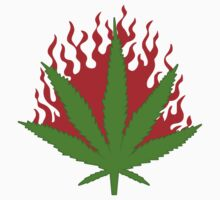 Burn Some Marijuana by MarijuanaTshirt