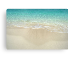 Beach in Paradise island, The Bahamas Canvas Print