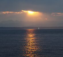 Sunset over Puget Sound by Olga Zvereva