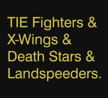 TIE Fighters (Yellow) by David Clements