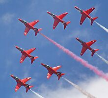 Top Pass - Red Arrows - Dunsfold 2012 by Colin J Williams Photography