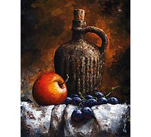 Apple and grapes - still life /19 Photographic Print