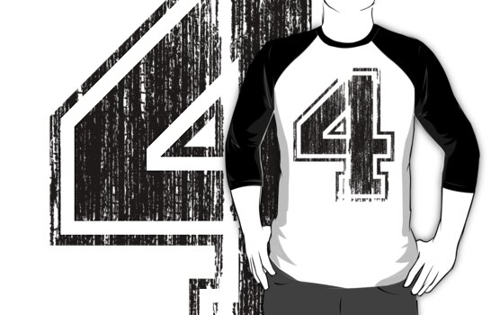 Bold Distressed Sports Number 4 by adamcampen