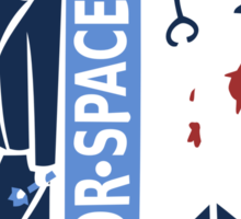 Spacemen (Red, White, and Blue) Sticker