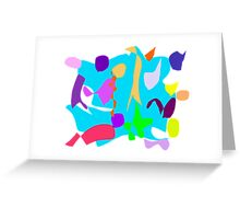 Small World Water Pond Frog Bird Chirping Greeting Card