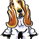 Basset Hound Sit Stay by offleashart
