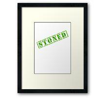 STONED Framed Print