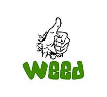 I Love Weed Photographic Print