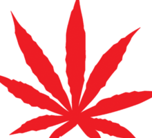 Canadian Flag Marijuana Leaf Sticker