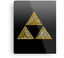 The Legend of Triforce Metal Print
