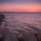 Scarborough Breakwater at Sunset Brisbane Australia by PhotoJoJo