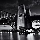 Night Falls on Sydney_BW by Sharon Kavanagh