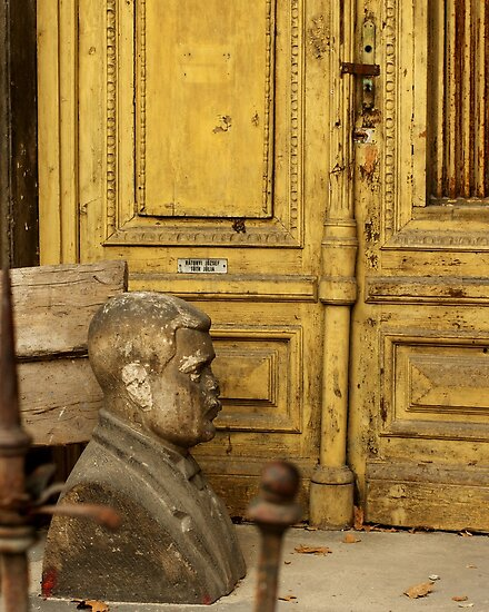 Bust & Yellow Door, Budapest, Hungary by BH Neely