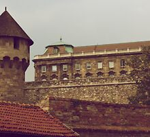 Turret & Palace, Buda, Hungary by BH Neely