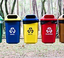 Recycling bins in Sao Paulo by Pat Garret