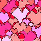Pink collage hearts by holeighh