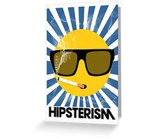HIPSTERISM (SERIES) [blue/black] Greeting Card