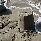 Heart Sandcastle by David W Bailey