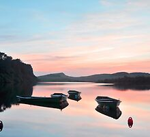 Crag Lough on Hadrian's Wall by Joan Thirlaway