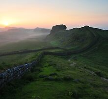 Hadrian's Wall on Cuddys Crag - c6 by Joan Thirlaway