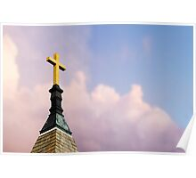 Cross on Steeple Poster