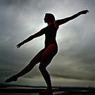 Silhouette of a ballerina by thermosoflask