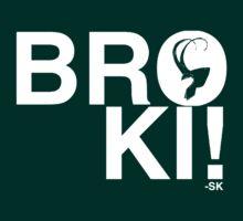 BROKI!-White Print T-Shirt