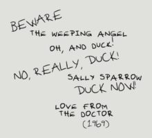 Sally Sparrow, DUCK NOW! by Khepera