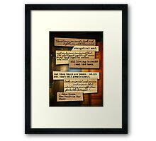 Thoughts from Books Framed Print