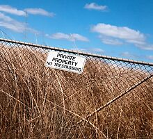 Private Property, near Malmsbury, 2012 by Liza Clements