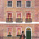 Mr Dickens with his Dog in Doughty Street by Amanda White