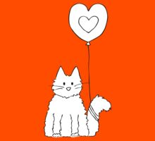 Cat tied to a balloon by Elvedee