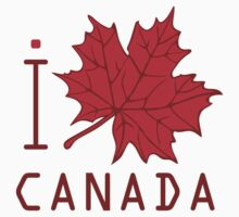 I LOVE CANADA T-shirt by ethnographics