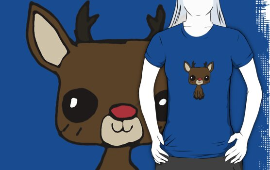 cute rudolph t-shirt by Zozzy-zebra