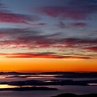 Derwent River Dawn - from Mount Wellington, Tasmania by clickedbynic