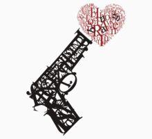 Gun & Heart Typography by neizan
