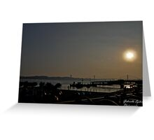 Sunset ove the bay Greeting Card