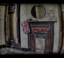 Deralict  fireplace. by tiggertastic