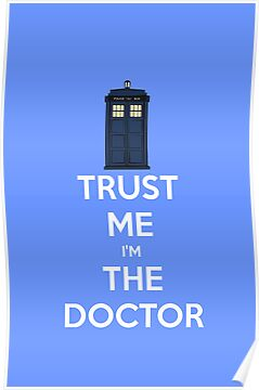 TRUST ME I'M THE DOCTOR t-shirt/sticker/iPhone case by Domsbubble