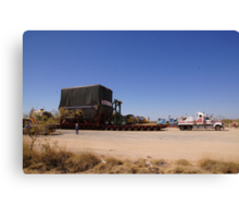 You wouldn't want to get stuck behind this! Canvas Print