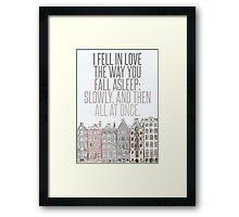 The Way You Fall Asleep Framed Print