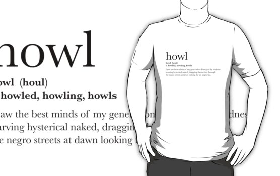 Howl - T-shirt by Sam K