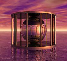 Surreal Cage In Water by Phil Perkins
